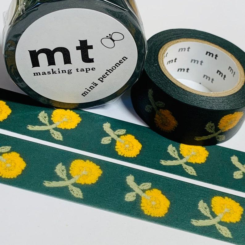 SKIPPING DANDELION TOSS Mina Perhonen Mt Washi Tape ~ 1 Roll ~ 20mm x 10m 33 Feet