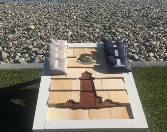 Hand carved Cape themed Corn Hole boards