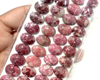 10Pcs Wholesale Rhodochrosite Stone 20x15x6mm CAB CABOCHON DIY Making