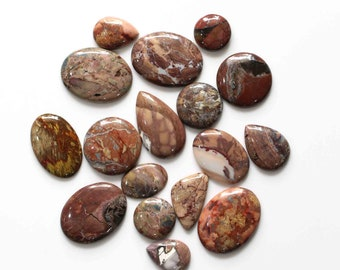 38Cts  39x23MM S792 Butterfly Jasper Gemstone Cabochon-Jasper Cabochons-Natural Selected Butterfly Jasper AA Quality Smooth Oval Cabochon