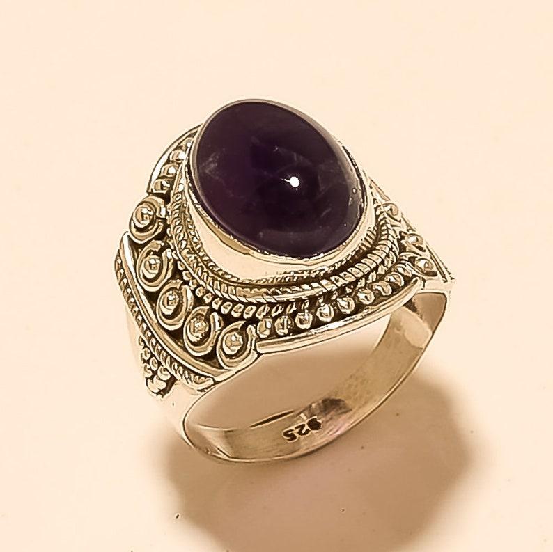 7 Gram Natural Amethyst Gemstone Ring Amethyst Gemstone 925 Sterling Silver Handmade Jewelry Wholesale Price Craft Supplies 809