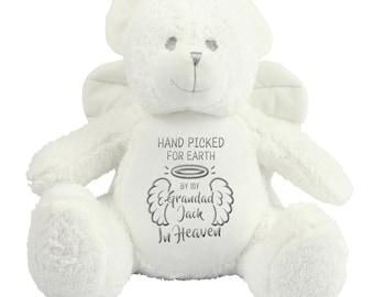 "Personalised  Angel Teddy Bear I have an angel  /""any Name/""memorial keepsake"