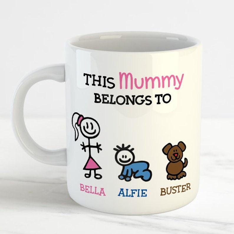 This Mummy Belongs To Personalised Mug Personalized Birthday Gift Work Office Christmas Present