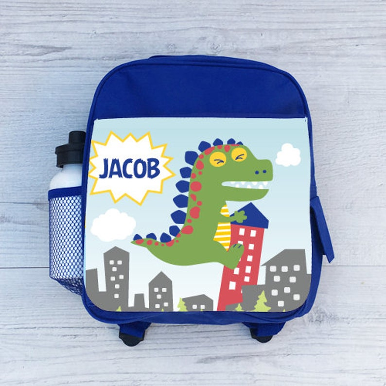 Printed Customised Kids School Rucksack Bag Personalised Name Mini Backpack