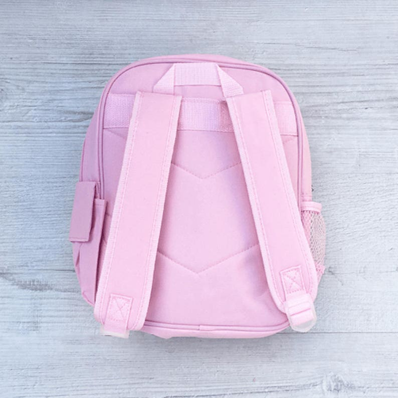 Nursery Girls Rose Gold Initial Name Personalised Drawstring Bag P.E Bag,