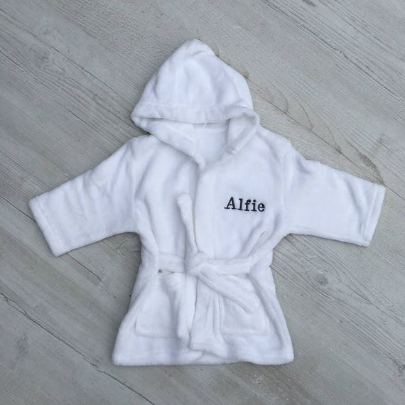 Personalised Kids Dressing Gown Custom Toddlers Bath Robe Etsy