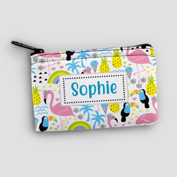 Personalised Kids BoysGirls Money Wallet bag Holiday Gift Birthday Present Xmas