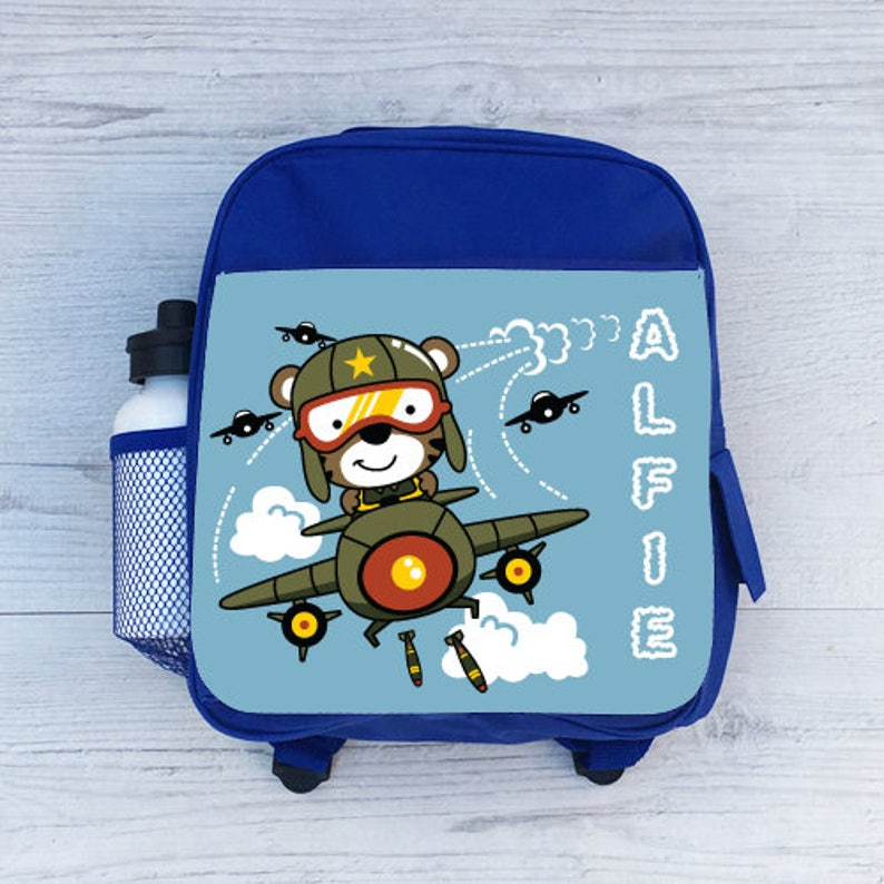 Personalised Dino Cute Dinosaur Scene Boys Kids Children/'s School Bag Backpack