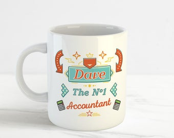 The Number One Accountant, Funny Personalised Mug Cup, No.1 Accountant Mug