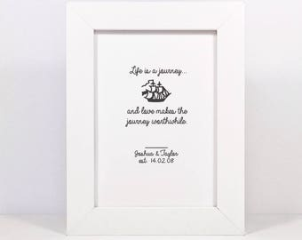 Framed Personalised Love Quote Print | Wedding Gift | Engagement Gift | Love Quote Print | Anniversary Gift | Valentine's Gift | Love Print