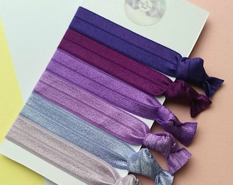 Easter gift pack etsy purplelilacmauve hair ties pack of 6 easter gift yoga tiessnag free ponytail holdersfold over elasticuk seller negle Image collections