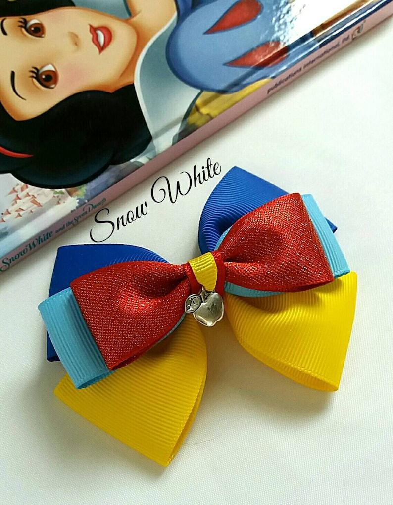 Snow White Hair Bow Princess Baby HeadbandRed Yellow image 0