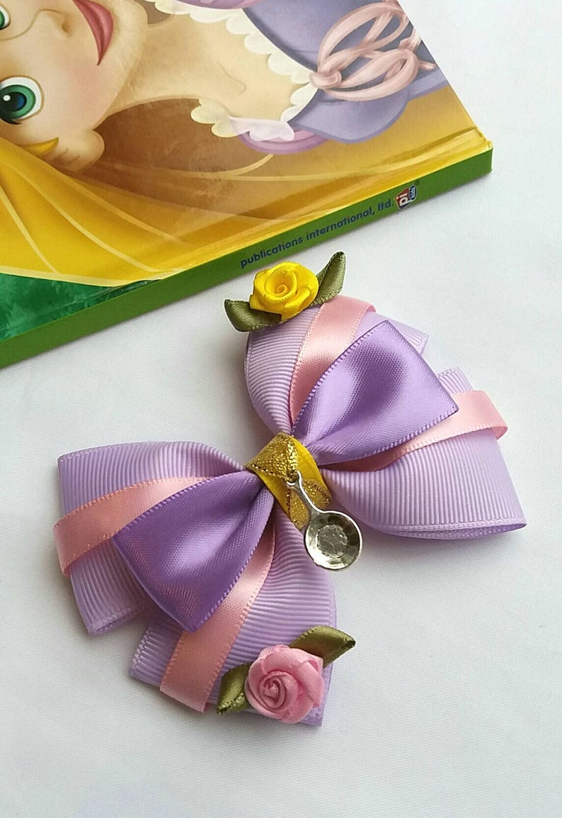 Rapunzel Hair Bow Tangled Baby Headband Disney Princess image 0
