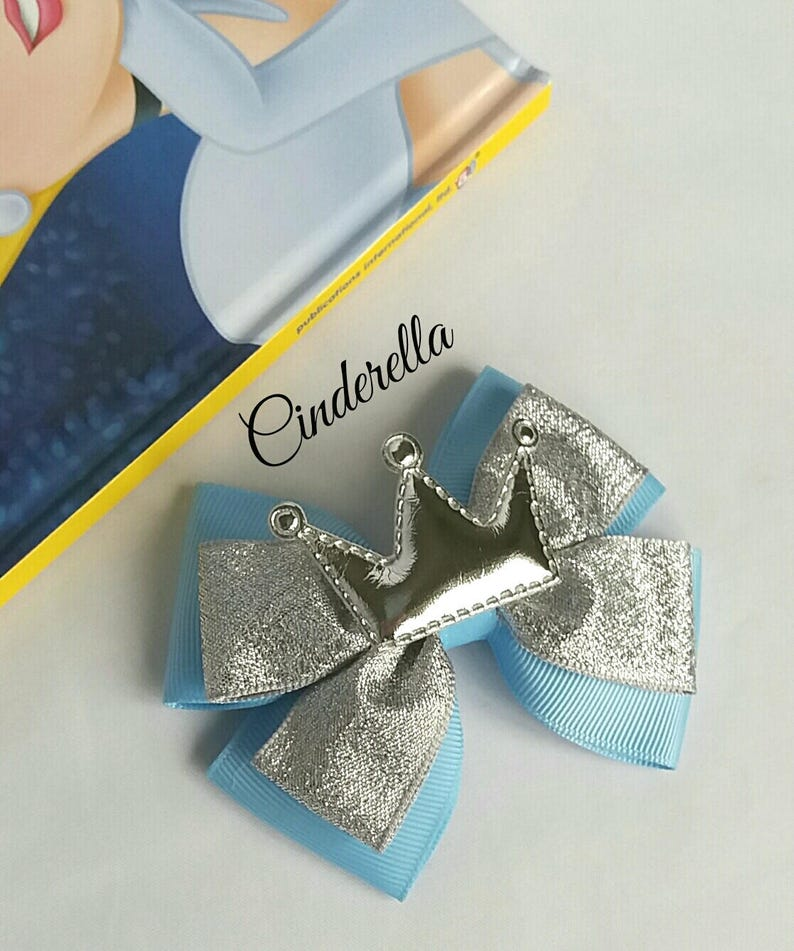 Cinderella inspiredPrincess Hair Bow Baby Headband Crown image 0
