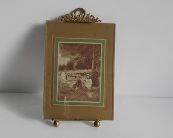 Antique photo frame Louis XVI french style, shabby chic frame,  picture frame, old frame, wedding frame, art deco, brass frame, photo frame