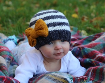 d680e192fab Baby girl knit hat