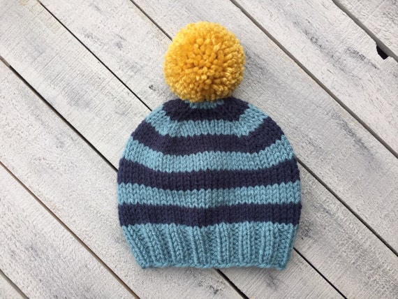 Striped Baby Boy Beanie Knitted Infant Winter Hat for Boy  1289d00a481a