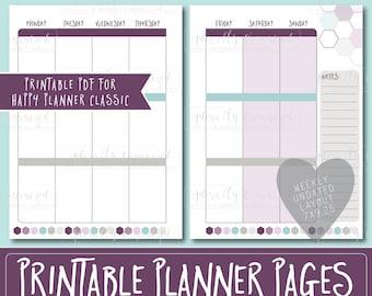 Happy Planner PRINTABLE Weekly Planner Refills / Inserts - 7 x 9.25   Macaron   Create 365   Me & My Big Ideas   mambi   Undated