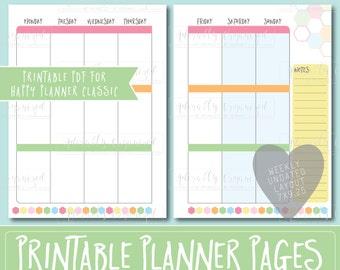 Happy Planner PRINTABLE Weekly Planner Refills / Inserts - 7 x 9.25   Sorbet   Create 365   Me & My Big Ideas   mambi   Undated
