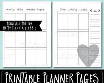 Happy Planner PRINTABLE Weekly Planner Refills / Inserts - PDF 7 x 9.25   Monday Start   Create 365   Me & My Big Ideas   mambi   Undated