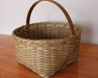Williamsburg Basket, Colonial Basket, Rustic Market Basket, Storage Basket,  Market Basket, Gathering Basket, Round Basket,Large Basket