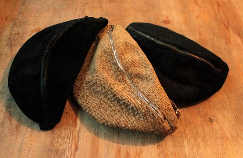 Hip bag  Hip bag  Belly bag Handbag Purse Velvet Belly BagFanny Packs
