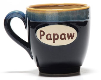 Papaw Mug, 18 Ounce Papaw Coffee Cup, Papaw Gifts, Grandparent Gifts - Father's Day Gifts