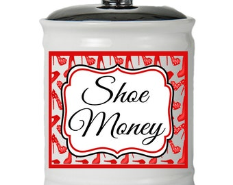 Shoe Money Holder - Gifts For Shoe Lovers - Money Jar With Lid