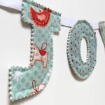 Christmas decorations/ Christmas gift under 10/ Joy / Christmas bunting / festive bunting / holiday decoration / teal decor / cute christmas