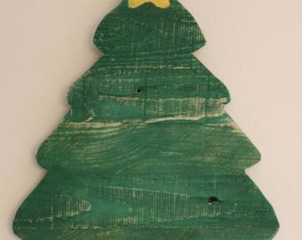 Rustic Pallet Wood Wall Hanging Christmas Tree