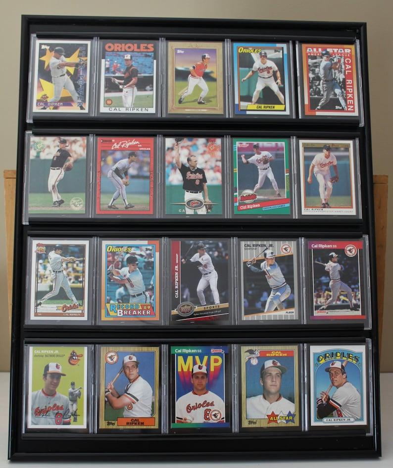Cal Ripken Jr Framed Baseball Card Wall Display Baltimore Orioles