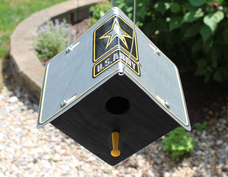 US-Armee Nummernschild Vogelhaus