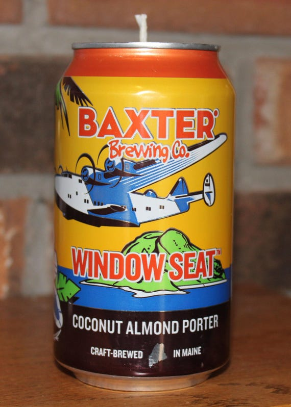 Magnificent Baxter Brewing Co Coconut Almond Porter Soy Wax Beer Can Candle Coconut Scent Bralicious Painted Fabric Chair Ideas Braliciousco
