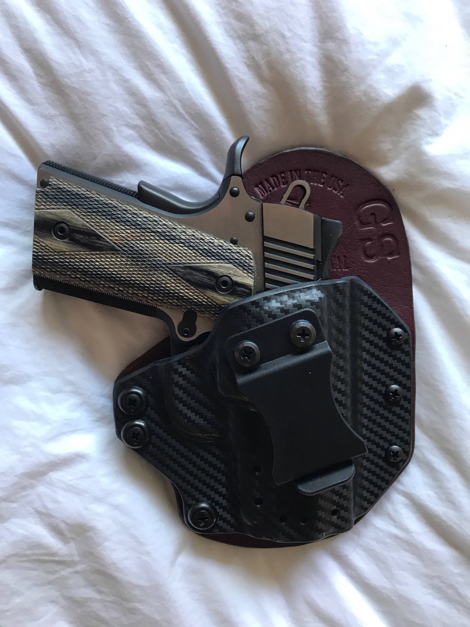 Springfield-Ethos Hybrid Holster-Defender Series A (IWB) leather