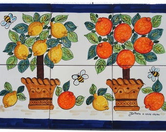 Lotto patchwork piastrelle decorate a mano cucina vietri etsy