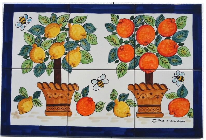 Ceramiche di Vietri Mosaico Mattonelle Vietresi Agrumi | Etsy