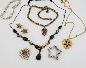 Lot of Avon Vintage Jewelry, Necklace, Bracelet, Brooch, Earrings