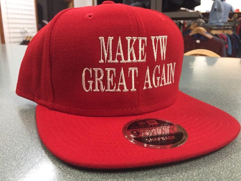 Make VW Great Again Flat Bill  Hat.  Volkswagen image 0