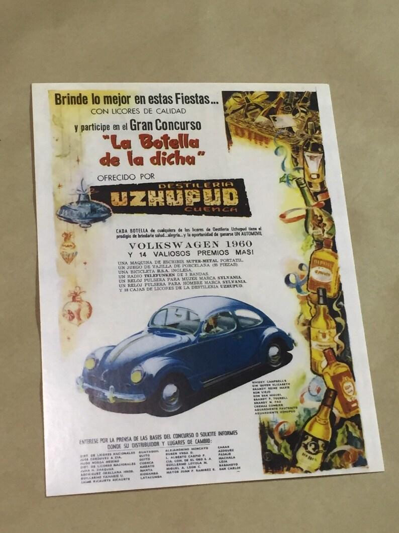 Vintage Volkswagen Beetle Bug Post Cards 5 pack.  VW Fusca image 0