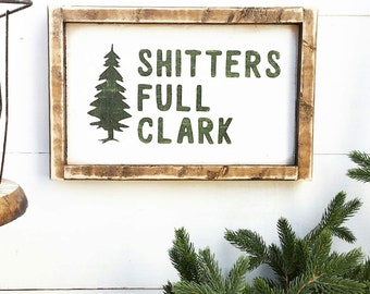 christmas vacation shitters full clark rustic christmas decor farmhouse christmas old fashioned christmas seasonal decor - Rustic Christmas Decor