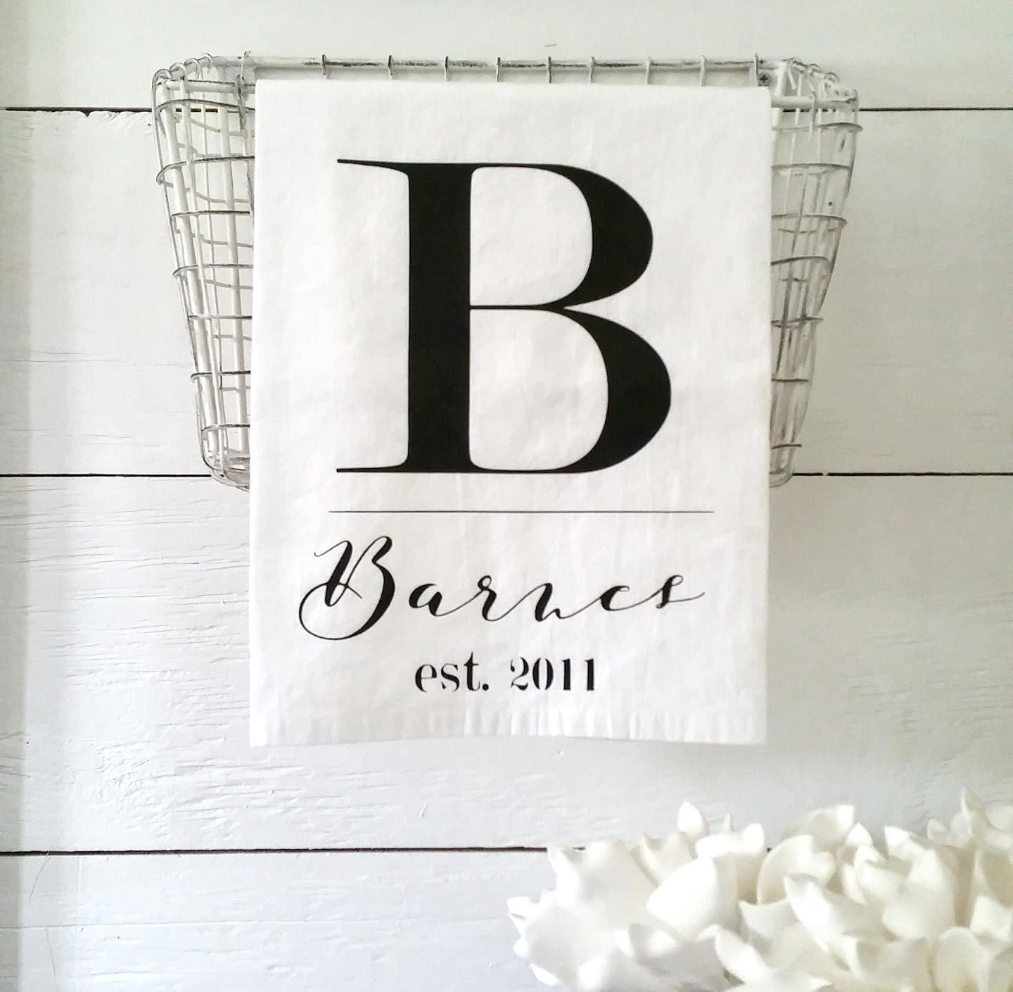 50 Farmhouse Style Gift Ideas From Etsy: Farmhouse Kitchen Decor Personalized Linens Country Home