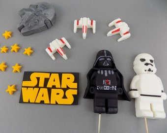 STAR WARS Set 8-14 ( check description) edible cake toppers decoration,shipping from UK