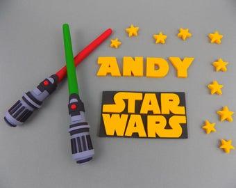 Handmade STAR WARS 1-7 set (check description) logo Darth Vader cake topper edible  personalised decoration,shipping from UK
