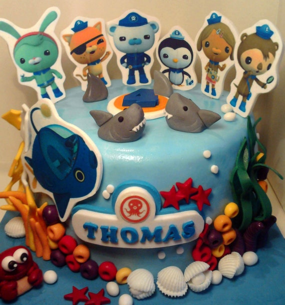 Personalised Handmade Octonauts Cake Topper Icing Decoration