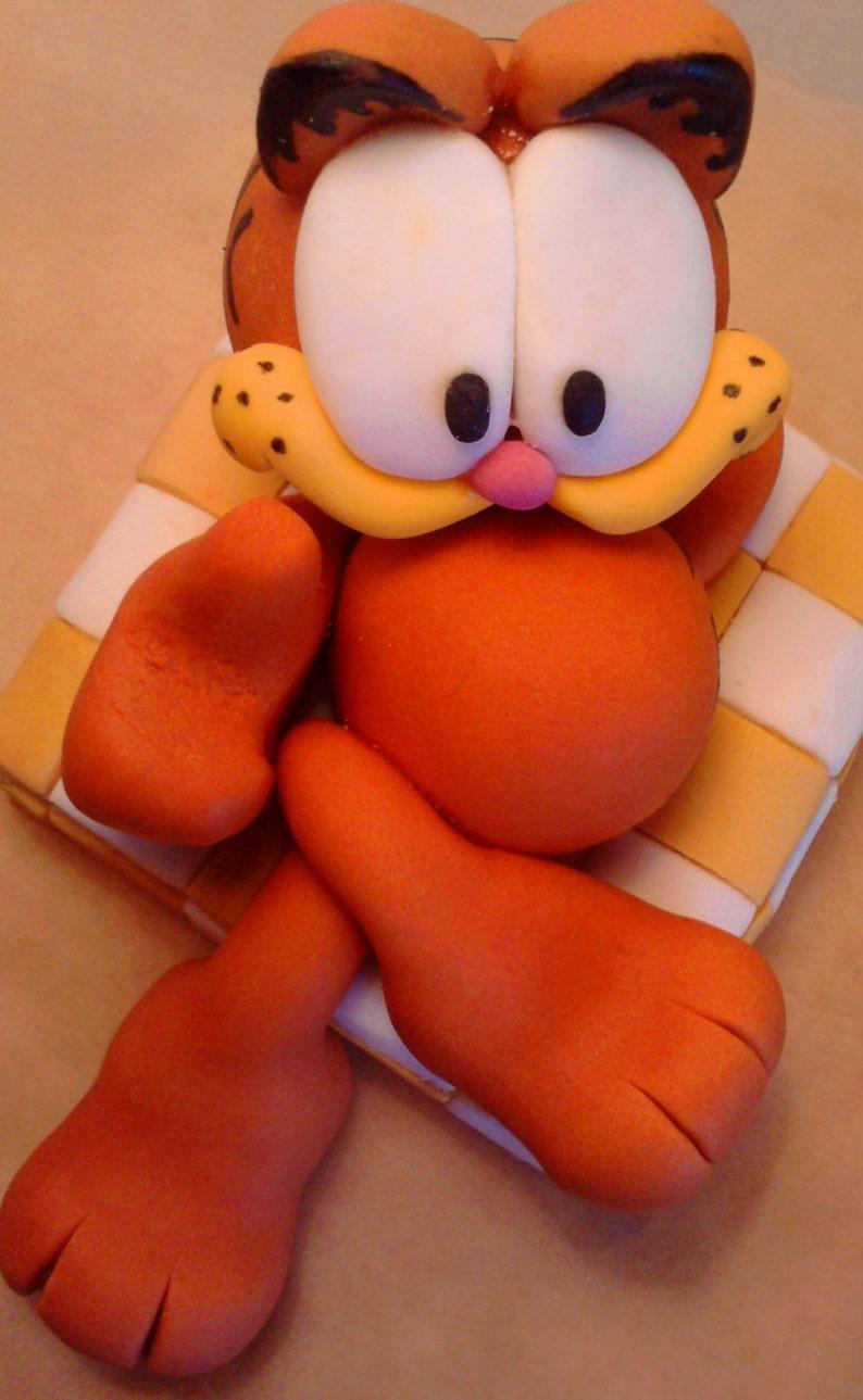 Garfield essbaren mit Buchstaben Namen Kuchen Topper   Etsy