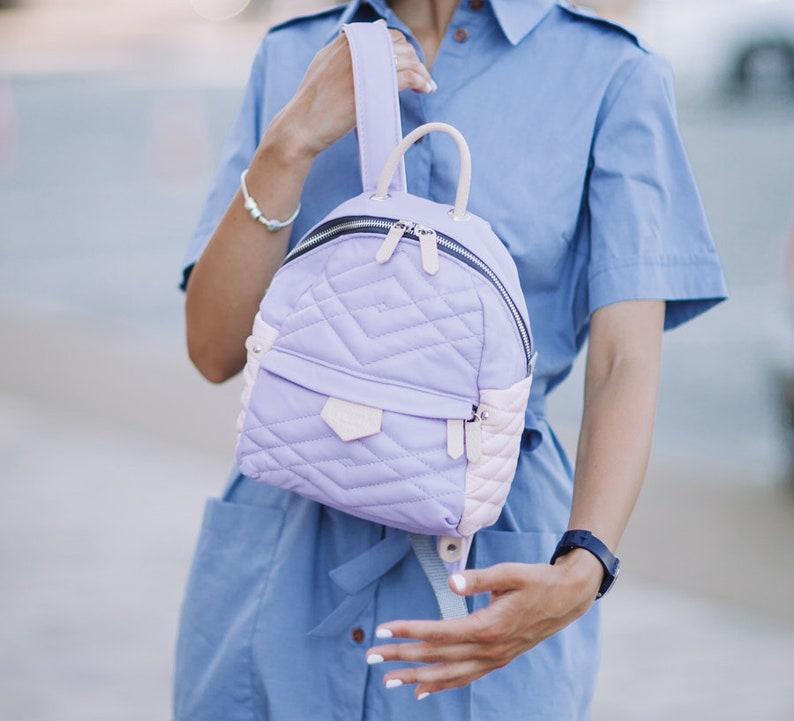 city backpack leather bag Laptop backpack Handmade rucksack Pink Leather backpack canvas backpack Lavender Leather backpack