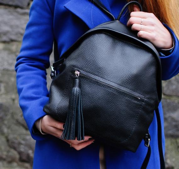 caa8880f59 BackPack Small Leather BackpackWomen BackpackBlack