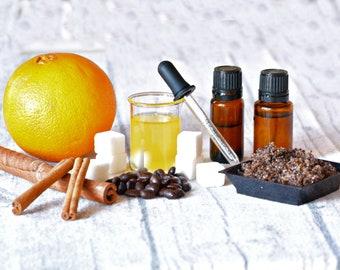 Exfoliating Sugar Scrub, Coffee and sugar lovers, antioxidation for your skin, natural skin care, fragrance free, essential oils, exfoliate