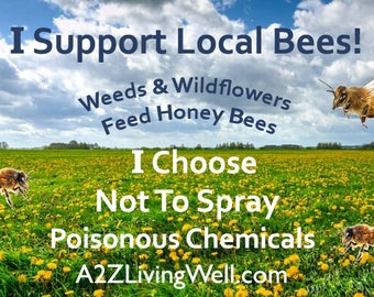 Save the Bees Yard Sign, Dandelion Love, Chemical free, Advocacy for Pollinators , Weed Supporters, Pollinators, honey love, Organic lawns