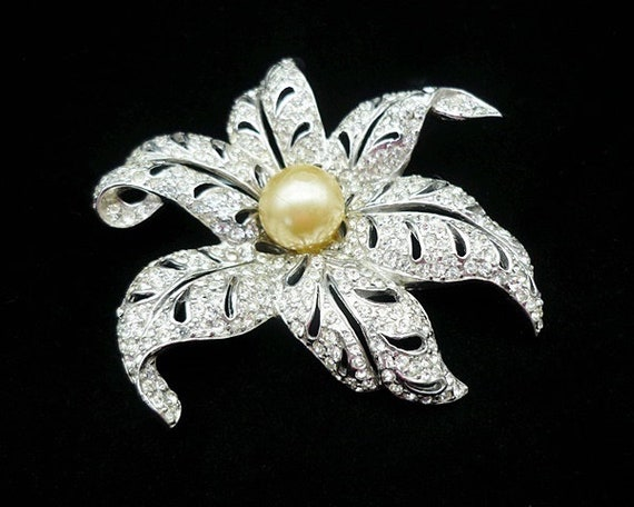RARE Vintage REJA Flower Brooch, Large Brooches, R